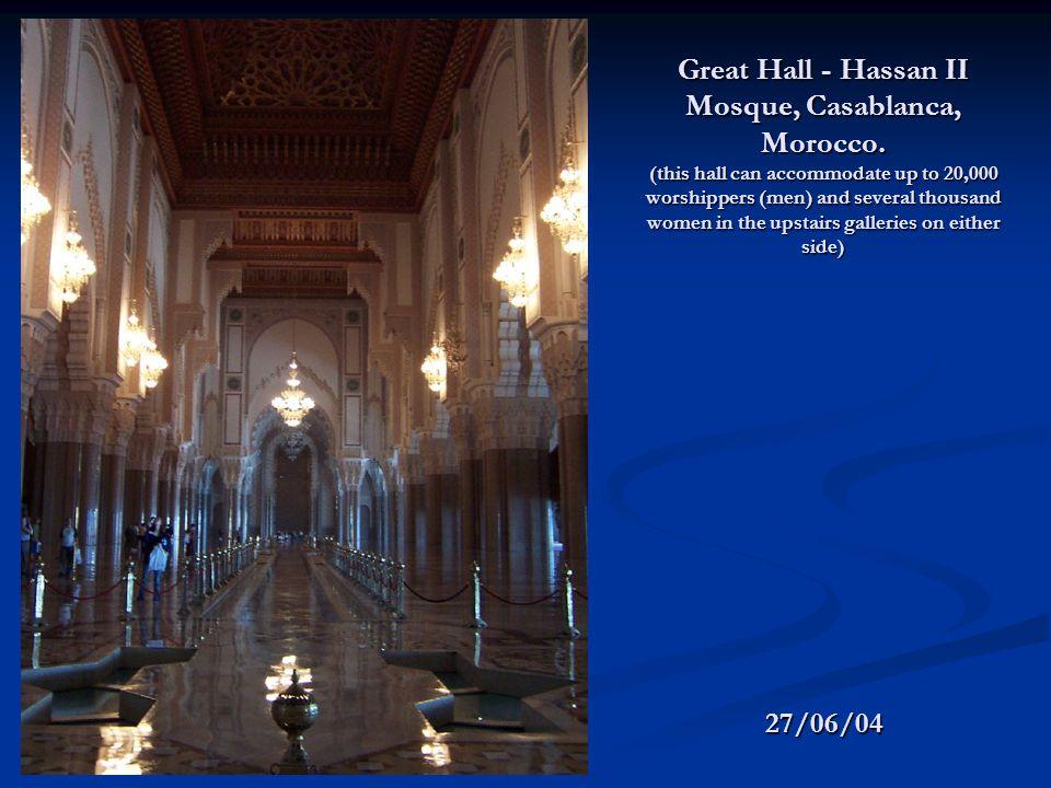 Great Hall - Hassan II Mosque, Casablanca, Morocco.