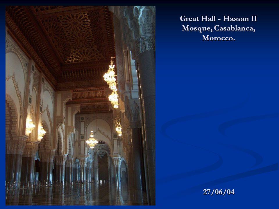 Great Hall - Hassan II Mosque, Casablanca, Morocco. 27/06/04