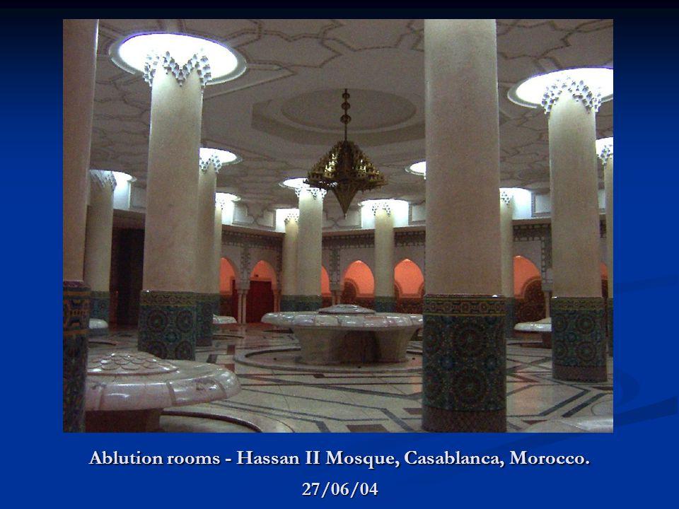 Ablution rooms - Hassan II Mosque, Casablanca, Morocco. 27/06/04