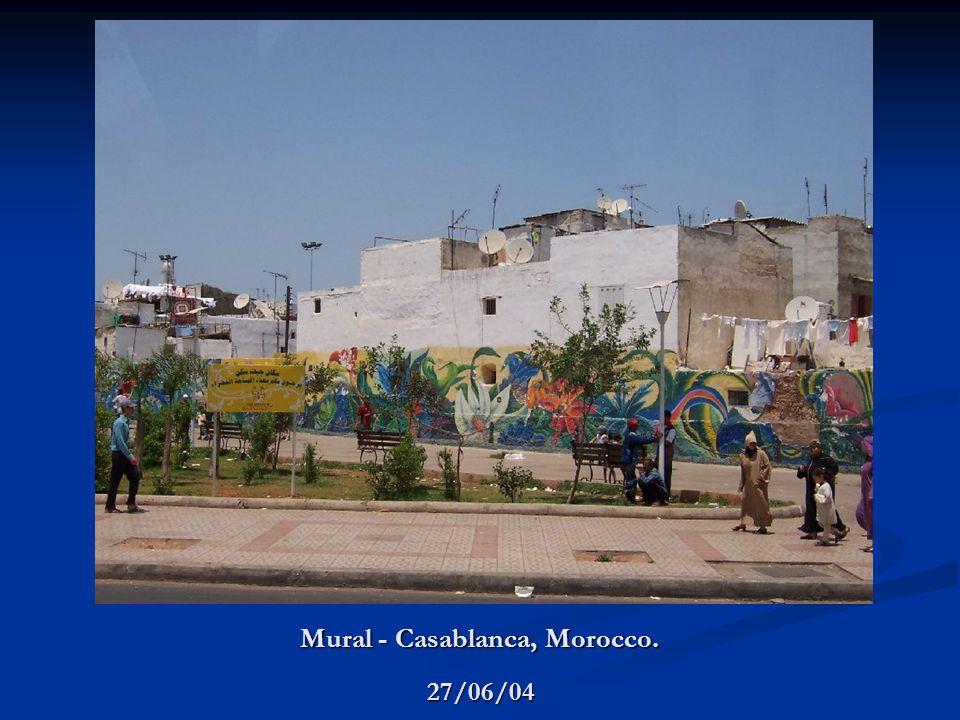 Mural - Casablanca, Morocco. 27/06/04