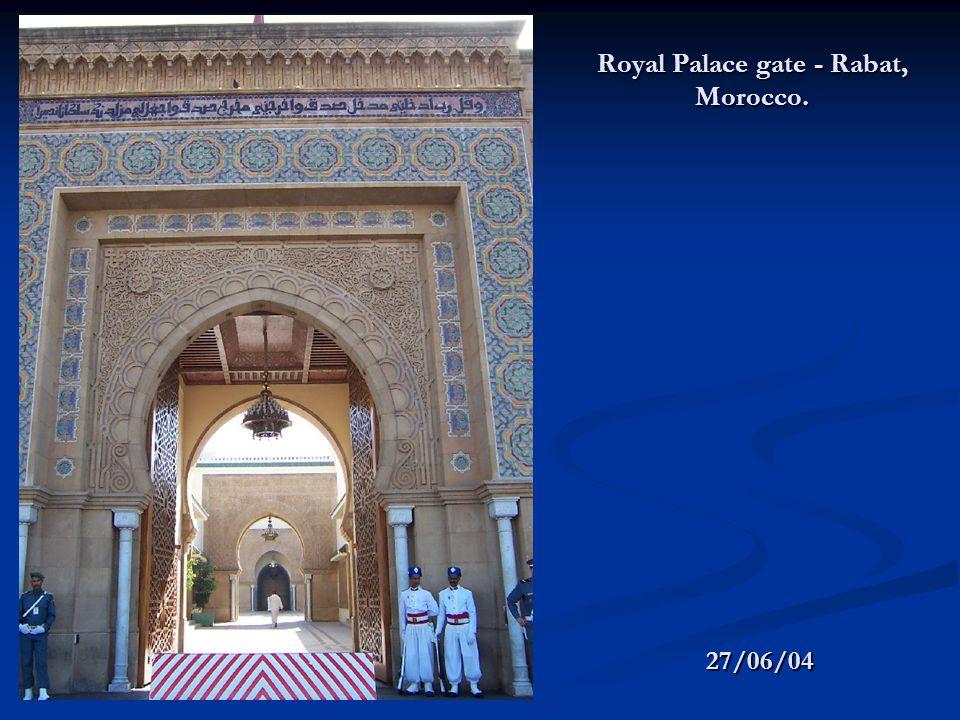 Royal Palace gate - Rabat, Morocco. 27/06/04