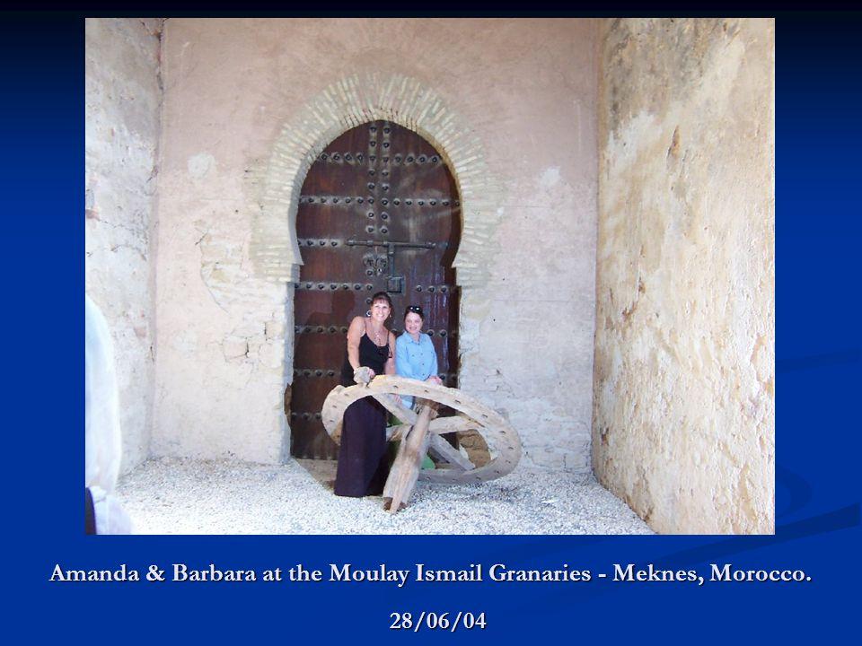 Amanda & Barbara at the Moulay Ismail Granaries - Meknes, Morocco. 28/06/04