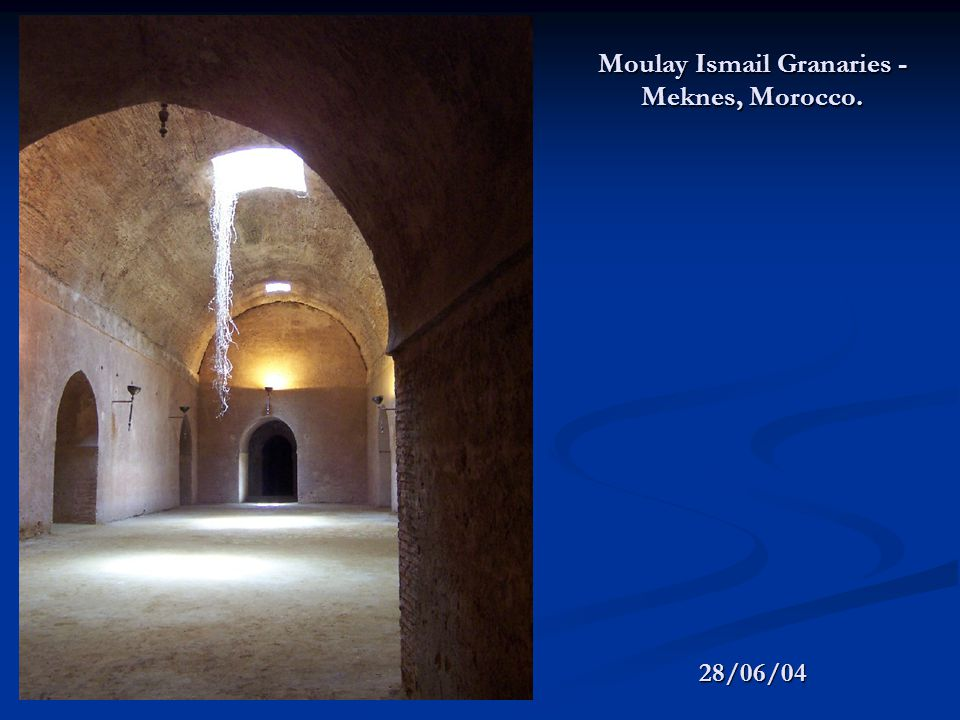 28/06/04 Moulay Ismail Granaries - Meknes, Morocco.