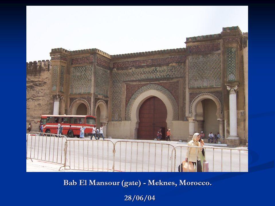 Bab El Mansour (gate) - Meknes, Morocco. 28/06/04