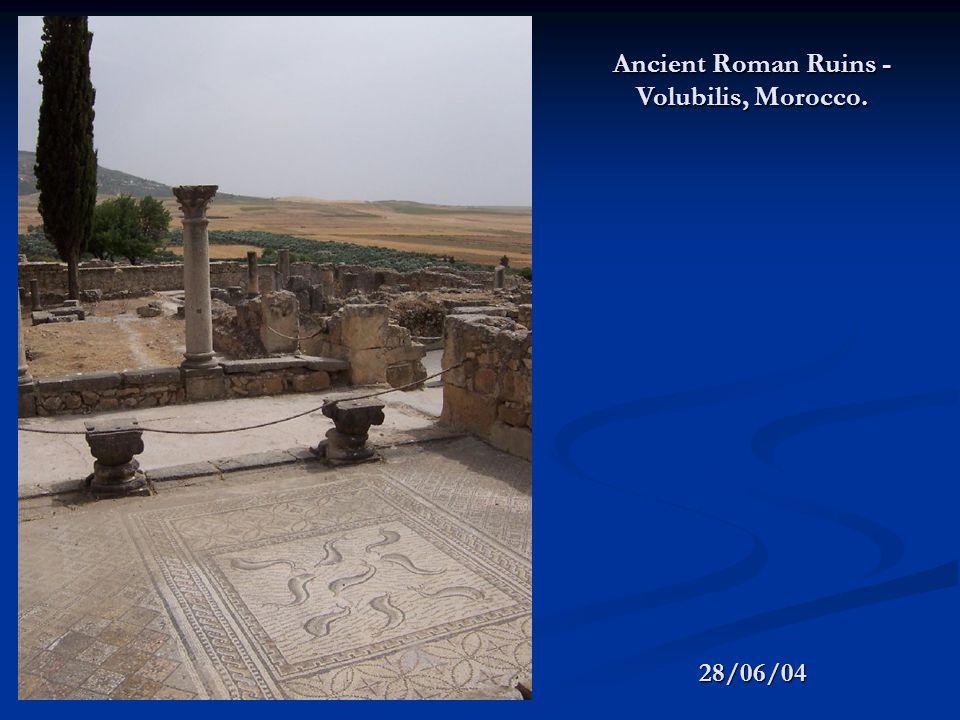 28/06/04 Ancient Roman Ruins - Volubilis, Morocco.