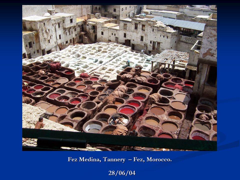 Fez Medina, Tannery – Fez, Morocco. 28/06/04