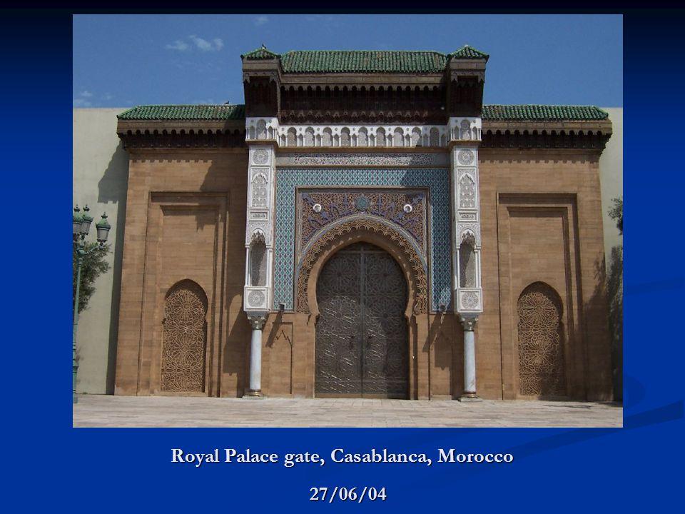 Royal Palace gate, Casablanca, Morocco 27/06/04