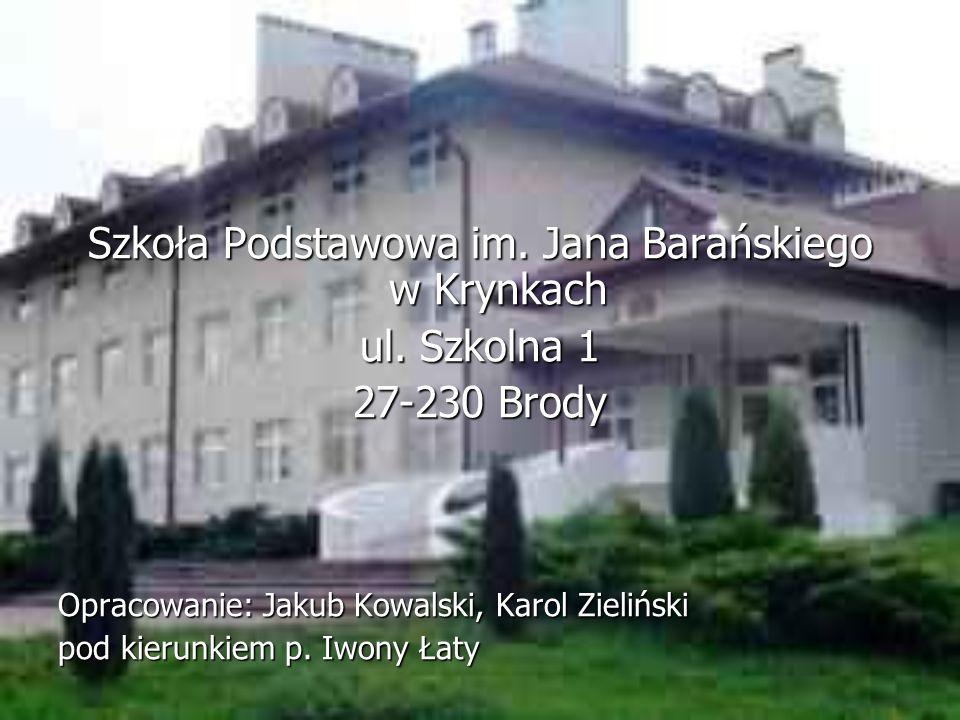 Szkoła Podstawowa im. Jana Barańskiego w Krynkach ul.