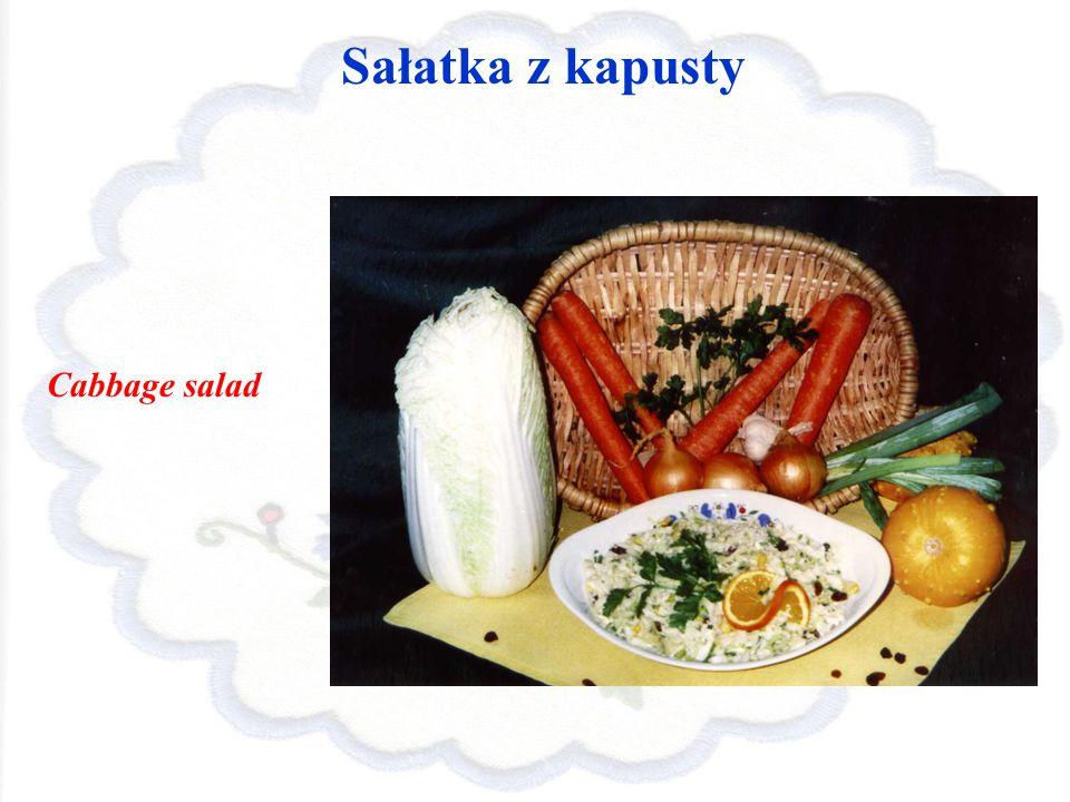 Sałatka z kapusty Cabbage salad