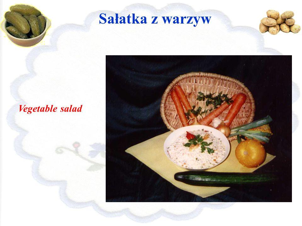 Sałatka z warzyw Vegetable salad