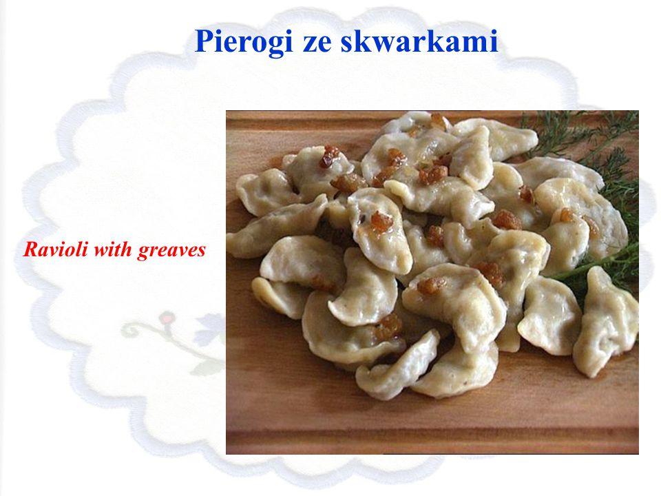 Pierogi ze skwarkami Ravioli with greaves