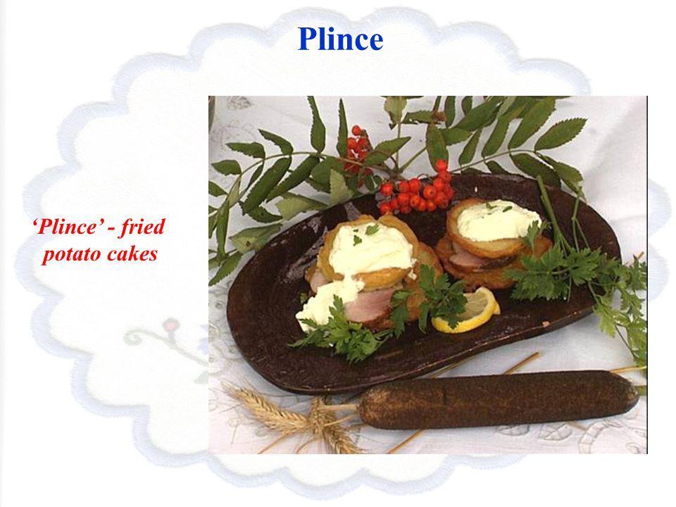 Plince Plince - fried potato cakes