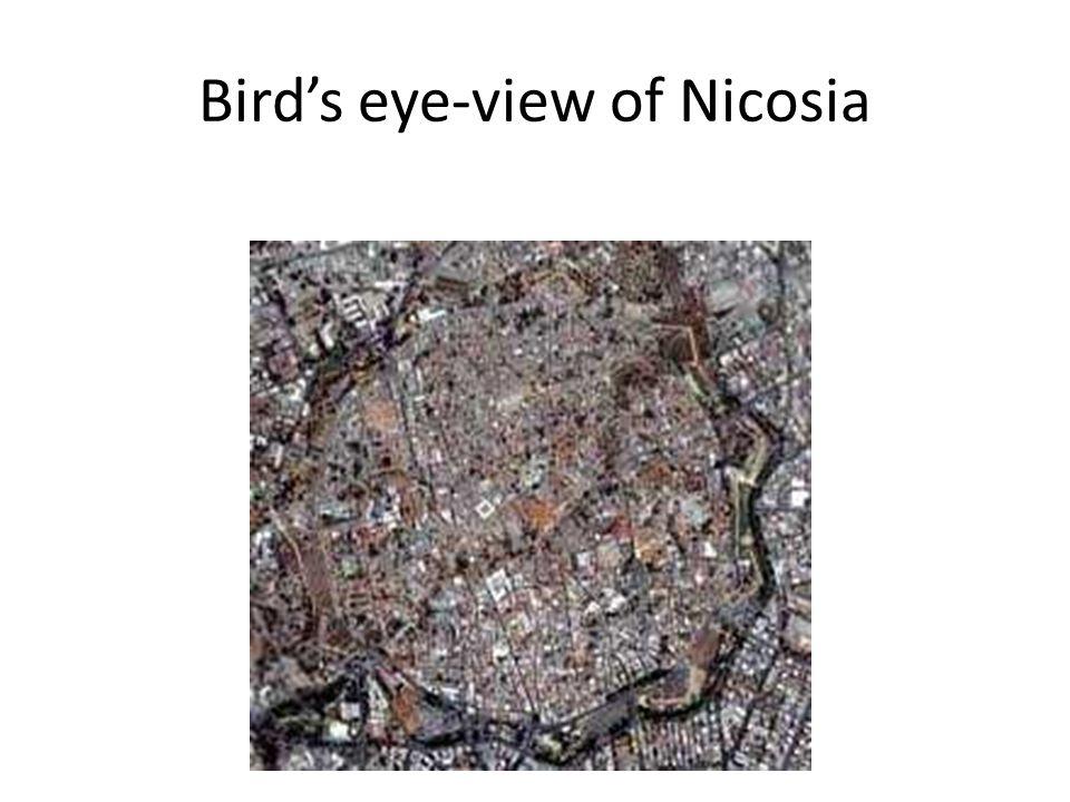 Birds eye-view of Nicosia