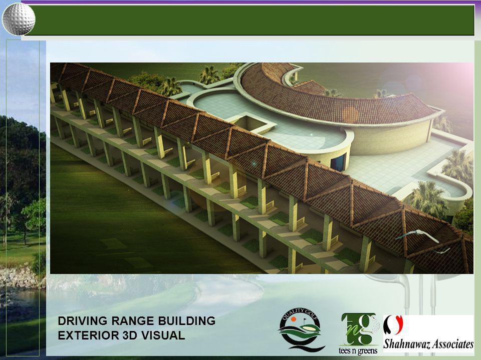 DRIVING RANGE BUILDING EXTERIOR 3D VISUAL