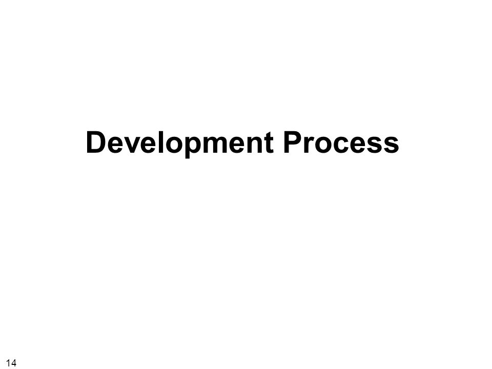 14 Development Process