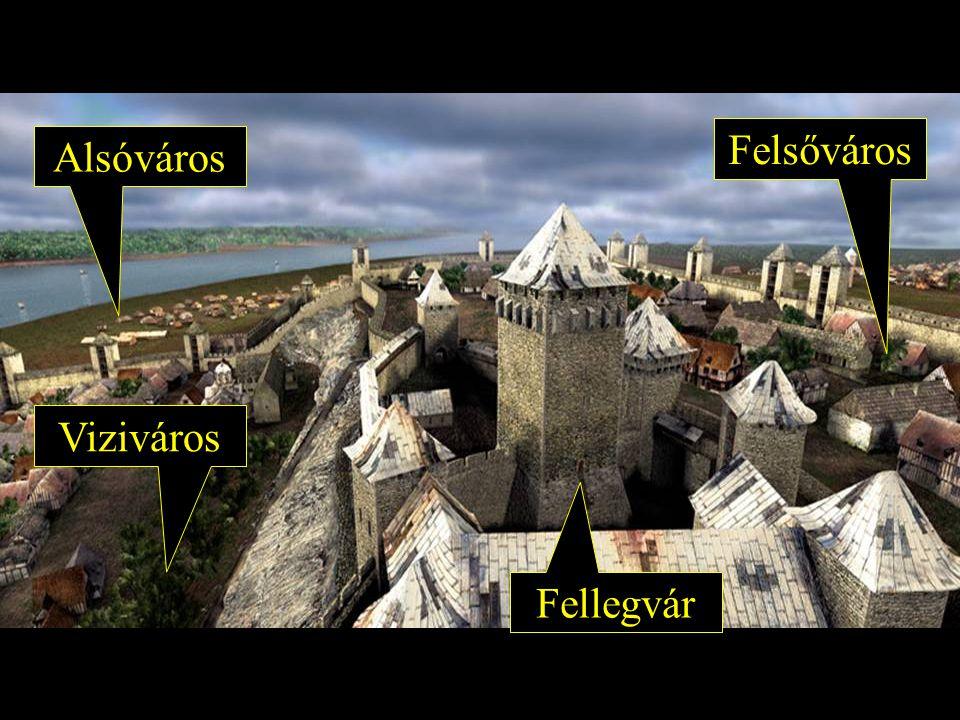 Felsőváros Viziváros Alsóváros Fellegvár