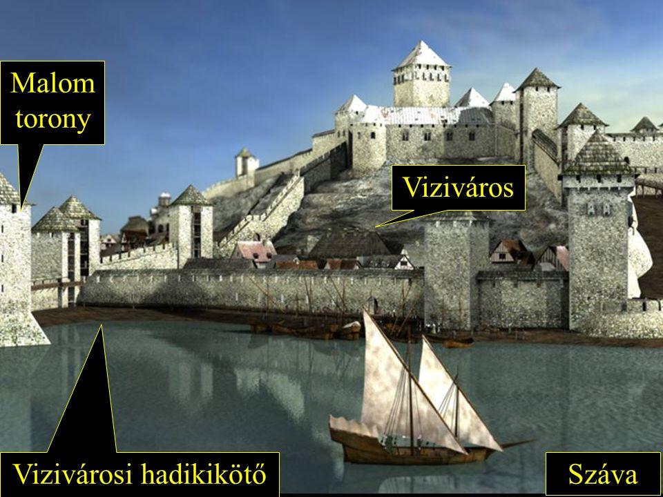 Viziváros Vizivárosi hadikikötő Száva Malom torony