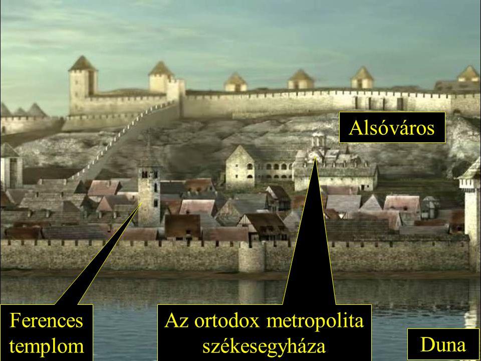 Duna Alsóváros Ferences templom Az ortodox metropolita székesegyháza