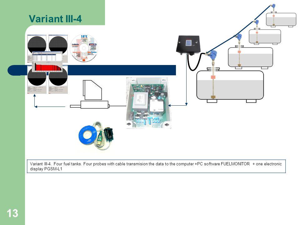 13 Variant III-4 Variant III-4. Four fuel tanks.
