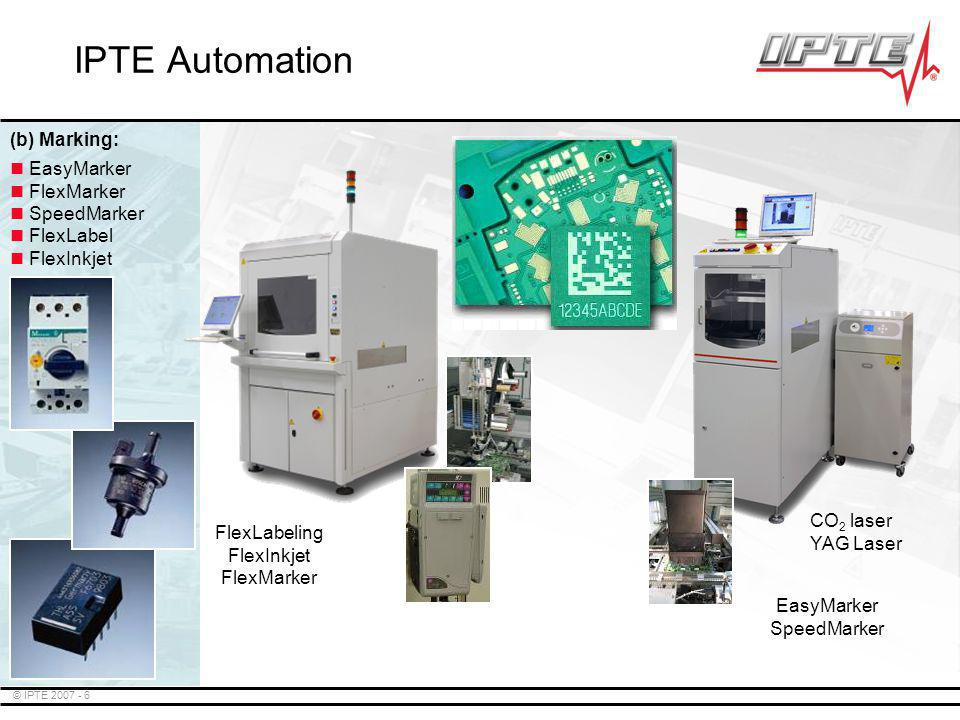 © IPTE 2007 - 7 SpeedMounter SpeedMounter 2 EasyMounter SpeedMounter 2 SpeedMounter TM EasyMounter IPTE Automation (c) Odd-Form Placement: