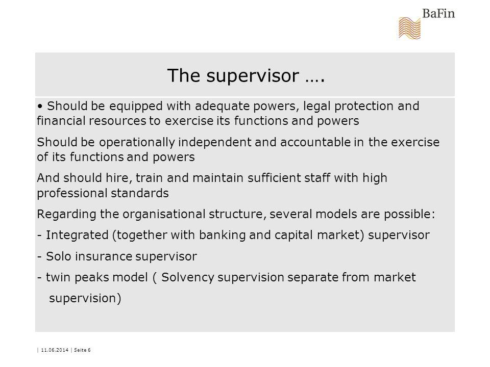 The supervisor ….