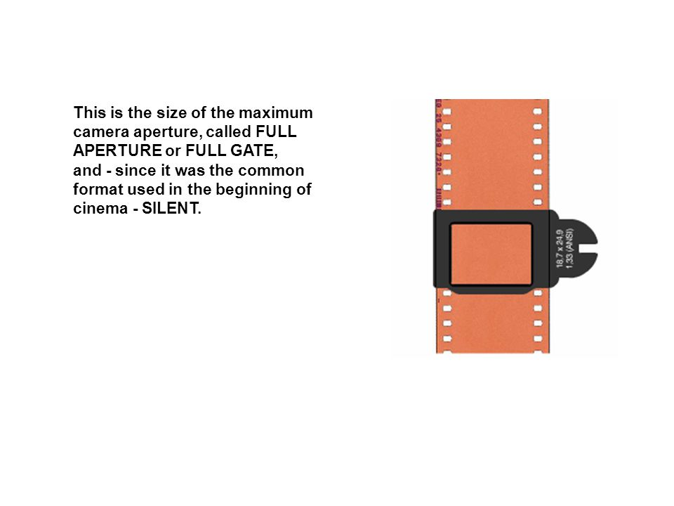 This is the size of the maximum camera aperture, called FULL APERTURE or FULL GATE, and - since it was the common format used in the beginning of cinema - SILENT.