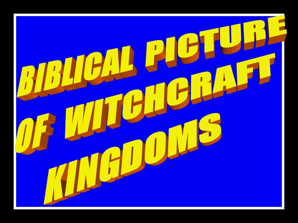 SIGNS OF WITCHCRAFT ATTACK 17. SNAIL ANOINTING 18. SPIRIT OF REJECTION 19. BACKSLIDING ETC. 6