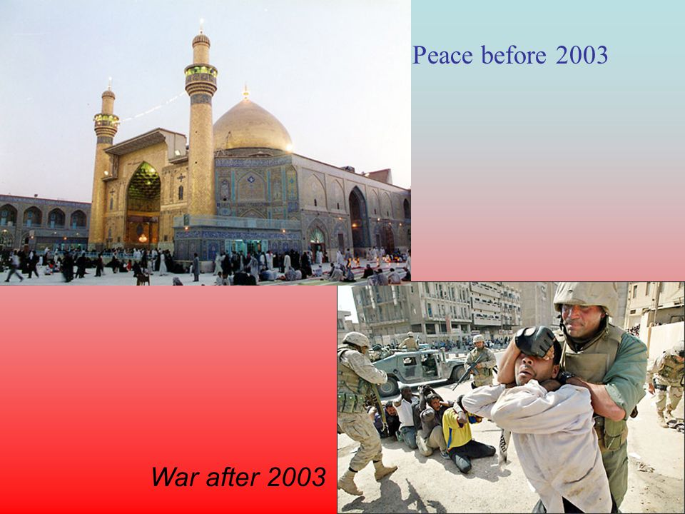 Peace before 2003 War after 2003