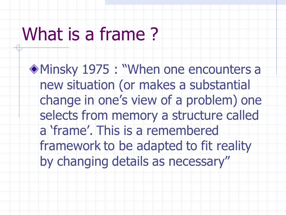 What is a frame .