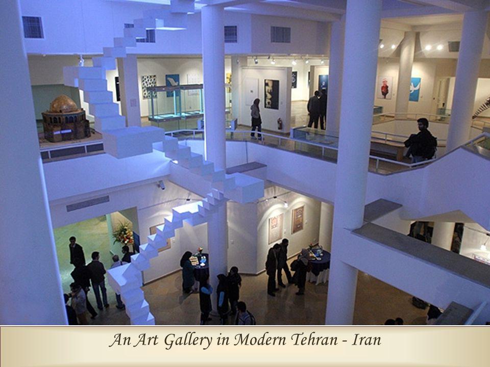 An Art Gallery in Modern Tehran - Iran Biggest Clock in the World