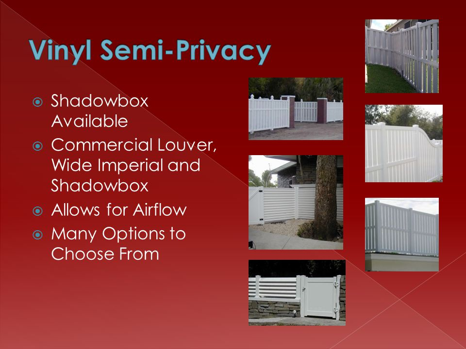Shadowbox Available Commercial Louver, Wide Imperial and Shadowbox Allows for Airflow Many Options to Choose From
