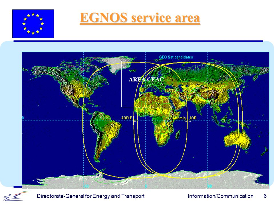 Directorate-General for Energy and TransportInformation/Communication6 AREA CEAC EGNOS service area