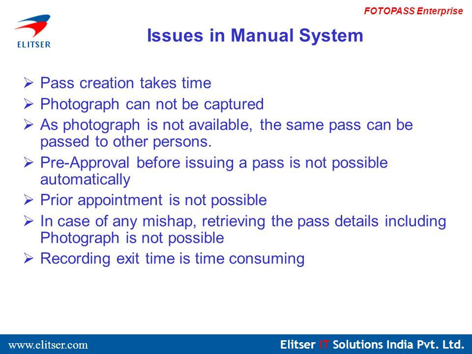 Elitser IT Solutions India Pvt. Ltd. www.elitser.com FOTOPASS Enterprise Login Screen