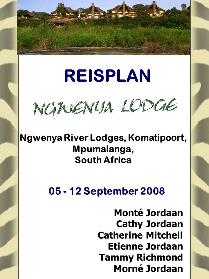 Monté Jordaan Cathy Jordaan Catherine Mitchell Etienne Jordaan Tammy Richmond Morné Jordaan Ngwenya River Lodges, Komatipoort, Mpumalanga, South Afric