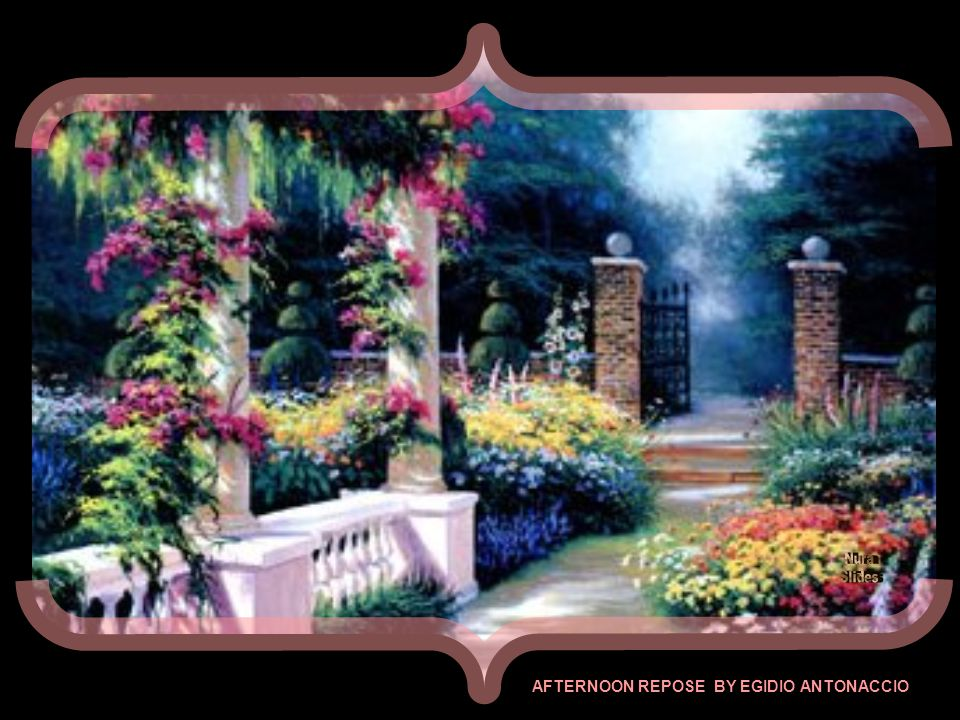 GARDEN GATE - FIOLO - CALIFORNIA - ART PRINT