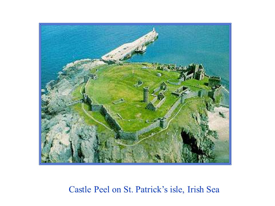 Castle Peel on St. Patricks isle, Irish Sea