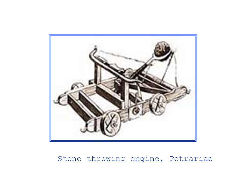 Stone throwing engine, Petrariae