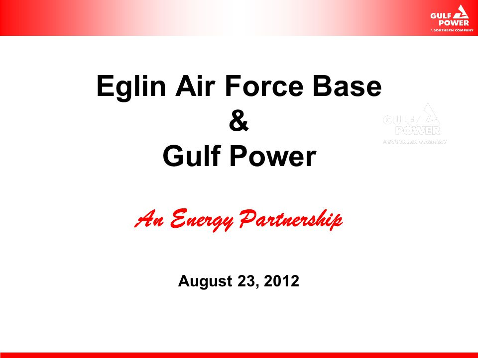 Eglin AFB UESC ECM Phase 2 Results ECM 2 $ 6.5M Annual Energy Savings over $500,000/yr Chiller replacements in Bldg 380 New pumps, valves, and DDC controls Lighting T-5s hangars, T-8s buildings
