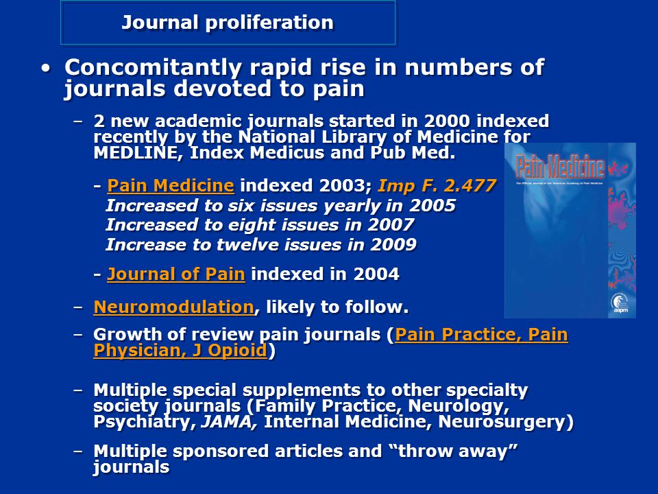 Growth in the Number of Published Articles related to pain over the past 3.5 years.