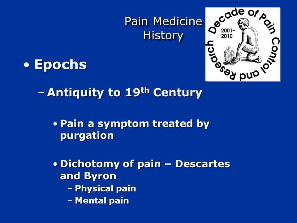 C fiber Abeta fiber Nerve injury Phenotypical Changes Spinal cord Damage Neuro- plasticity Central sensitization Alteration of modulatory systems Ectopic discharge Ectopic discharge Adapted from Woolf & Mannion, Lancet 1999 Attal & Bouhassira, Acta Neurol Scand 1999 ANS activation <<< Stress <<< Pain <<< BRAIN PROCESSING +++ Limb trauma