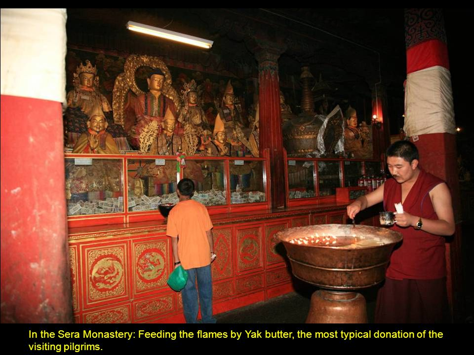 A wing of the Sera Monastery.