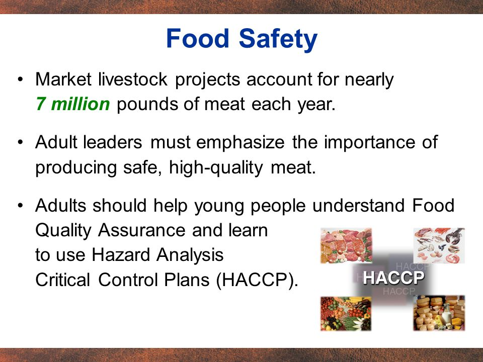 Market livestock projects account for nearly 7 million pounds of meat each year.