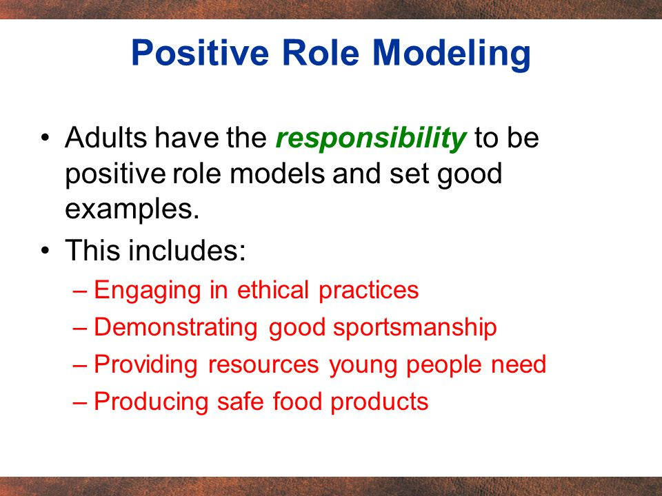 As young people develop, they seek role models.