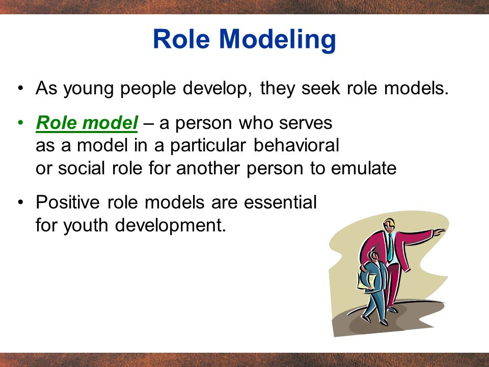 Young people find both positive and negative role models in todays society.