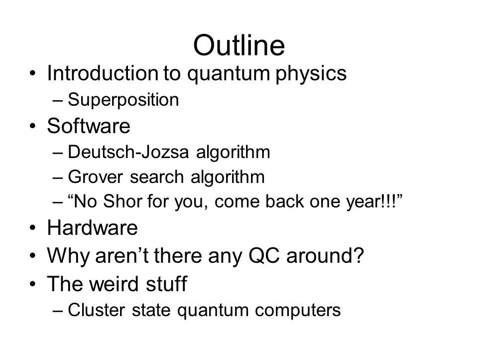 Quantum Logic Gate Introduction to Quantum Physics |0> |1> |0>+|1> |0>-|1> Single qubit logic gate: Rotation Hadamard |0> |0> +|1> |1> |0> - |1> Not|0> |1> |1> |0> Example: Polarization of light |0> |1>