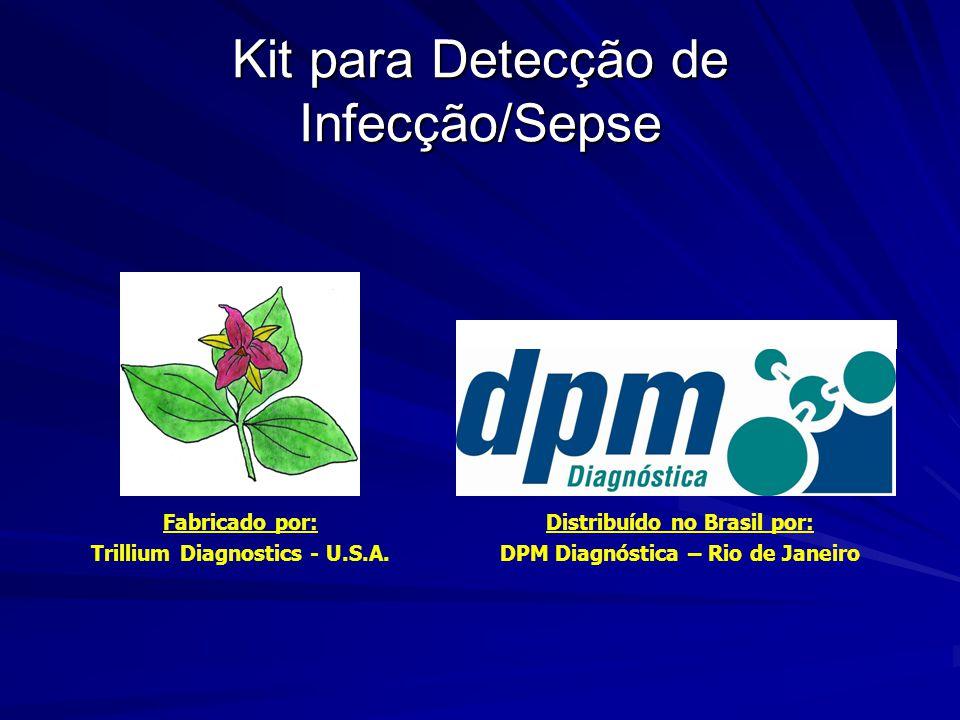 Kit para Detecção de Infecção/Sepse Fabricado por: Trillium Diagnostics - U.S.A. Distribuído no Brasil por: DPM Diagnóstica – Rio de Janeiro