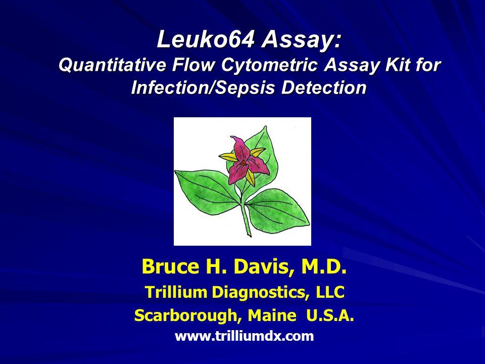Leuko64 Assay: Quantitative Flow Cytometric Assay Kit for Infection/Sepsis Detection Bruce H. Davis, M.D. Trillium Diagnostics, LLC Scarborough, Maine