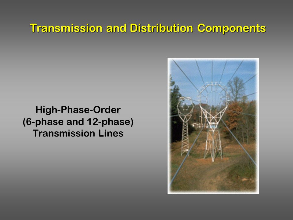 Transmission and Distribution Components High-Phase-Order (6-phase and 12-phase) Transmission Lines