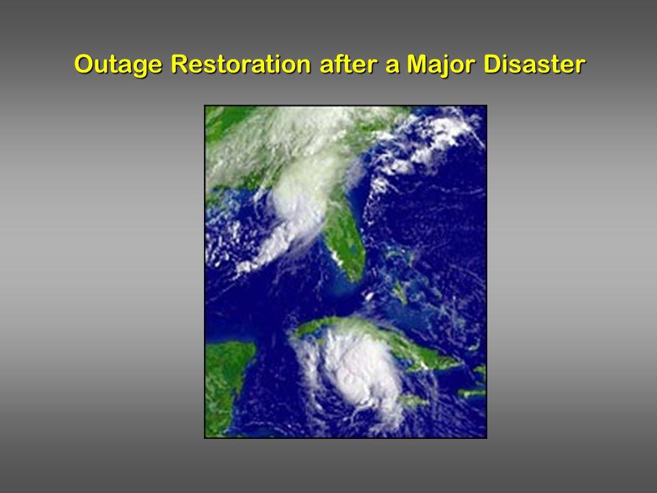 Outage Restoration after a Major Disaster