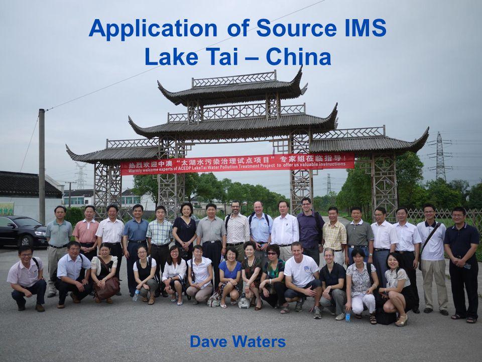 Application of Source IMS Lake Tai – China Dave Waters